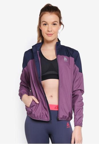 Odlo purple and multi Core Light Jacket 75DD1AA30A5BC1GS_1