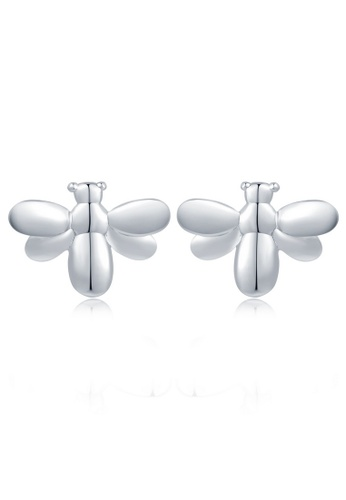 MBLife silver 925 Sterling Silver Polished Little Bee Stud Earrings 231F7ACD87B9F4GS_1