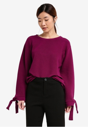 Esprit pink Long Sleeve Sweatshirt ES374AA0SEOSMY_1