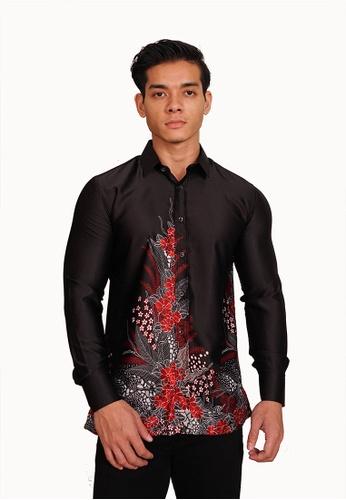 UA BOUTIQUE black Long Sleeve Shirt Batik UABM30-011 (Black) 04703AAF97095FGS_1