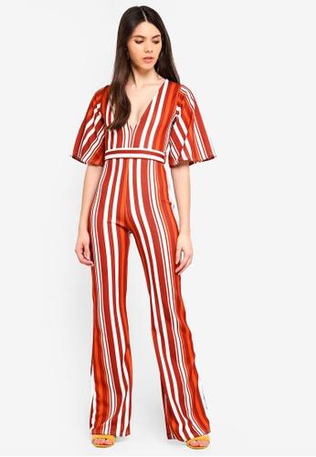 5ecbe060cf7 Shop MISSGUIDED Stripe Kimono Sleeve Jumpsuit Online on ZALORA Philippines