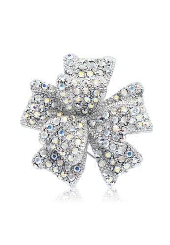 SO SEOUL silver Graceful Ribbon Bow Brooch 1EDA3AC46C3421GS_1