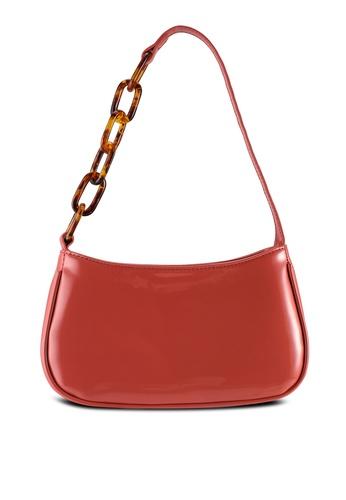 Milliot & Co. red Penelope Baguette Bag 3AD1AAC11306E1GS_1