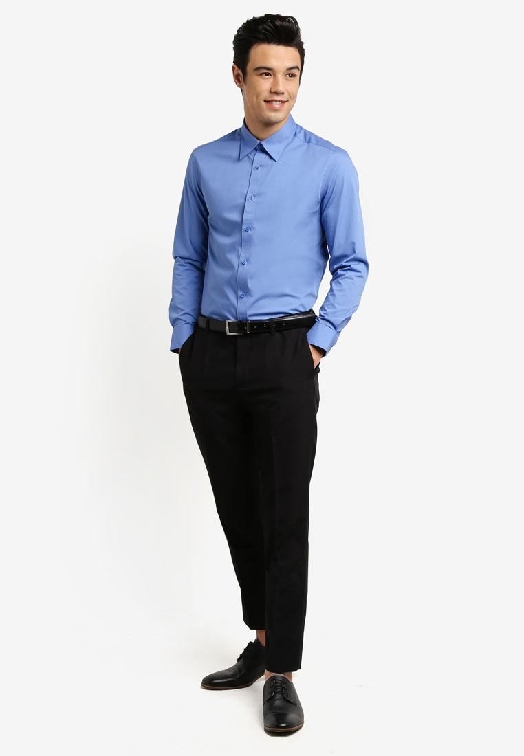 Basic Blue Long Poplin G2000 Shirt Twilight Sleeve rxS7r1q6R
