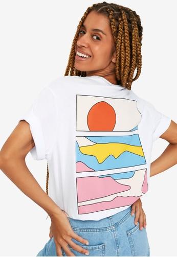 Trendyol white Graphic T-Shirt B31AFAA2C5BB70GS_1