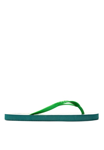 BENCH green Printed Rubber Slippers BE550SH73LUWPH_1