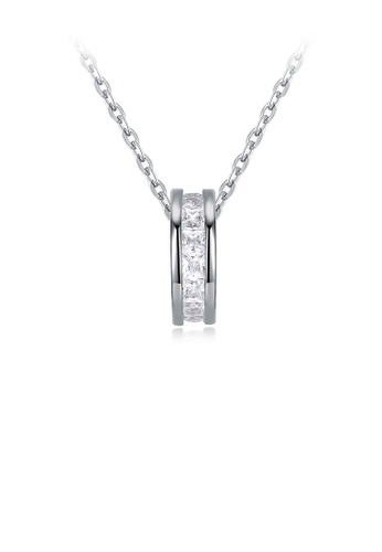 Glamorousky white 925 Sterling Silver Fashion Elegant Round Pendant with Cubic Zircon and Necklace EEE70AC43905CDGS_1