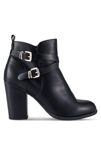 Dorothy Perkins black Black Alfa Buckle Boots DO816SH0RP58MY_1