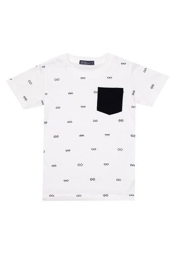 BOSSINI KIDS white Boys Round Neck T-Shirt With Full Print And Pocket 0DD70KA1147CD4GS_1