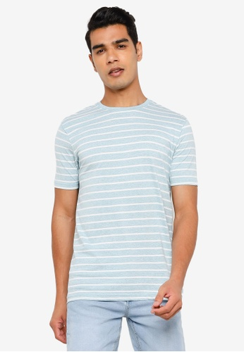 Springfield blue Striped T-Shirt CC141AA4CD5591GS_1