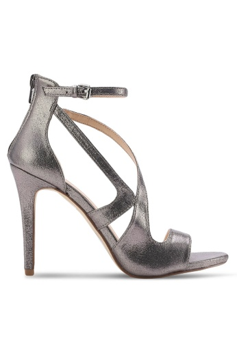 Miss Selfridge silver Callie Barely There Silver Heels MI665SH20HNNMY_1