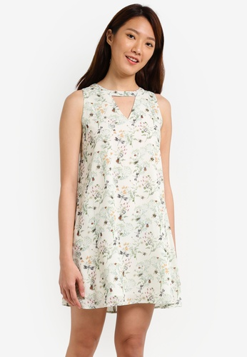 Something Borrowed white Neckline Cut Out Swing Dress A4895AA931493AGS_1