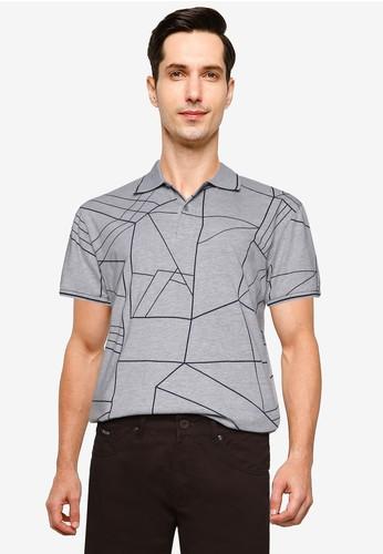 Fidelio grey Aztec Printed Polo Shirt 3DB3CAA585DECEGS_1
