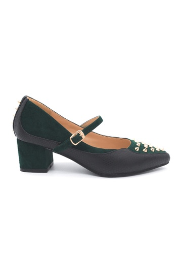 Toufie green Krait Marys 50 Mid Heel Snake And Leather - Emerald Green D8C20SHDF113A0GS_1