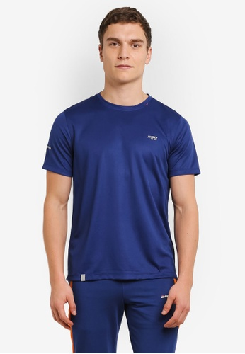 2GO 海軍藍色 GO Dry 圓領 半袖 T卹 2G729AA0S5ZWMY_1