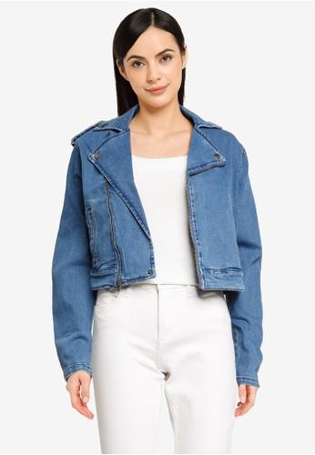 JACQUELINE DE YONG blue JDYBETTY LIFE STRETCH BIKER JKT MX DNM E5468AA7E7E785GS_1