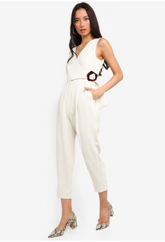 6261e573425b Your Choice. TOPSHOP white Buckled Jumpsuits 93953AA238A968GS 1