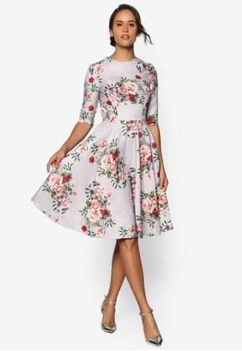 Aleesprit hkxis 五分袖玫瑰洋裝, 服飾, 洋裝