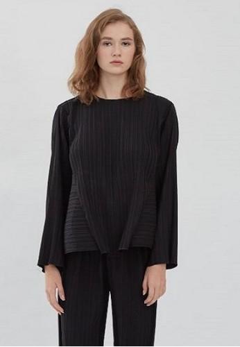 shopatvelvet black Comma Pleated Trousers Black 0E5B4AA7A43702GS_1