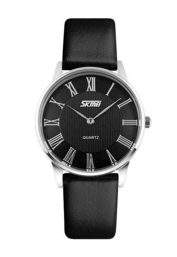Digitec black Skmei - Jam Tangan Wanita - Black - Leather Strap - 9092-F 39FFEACAFAF518GS_1