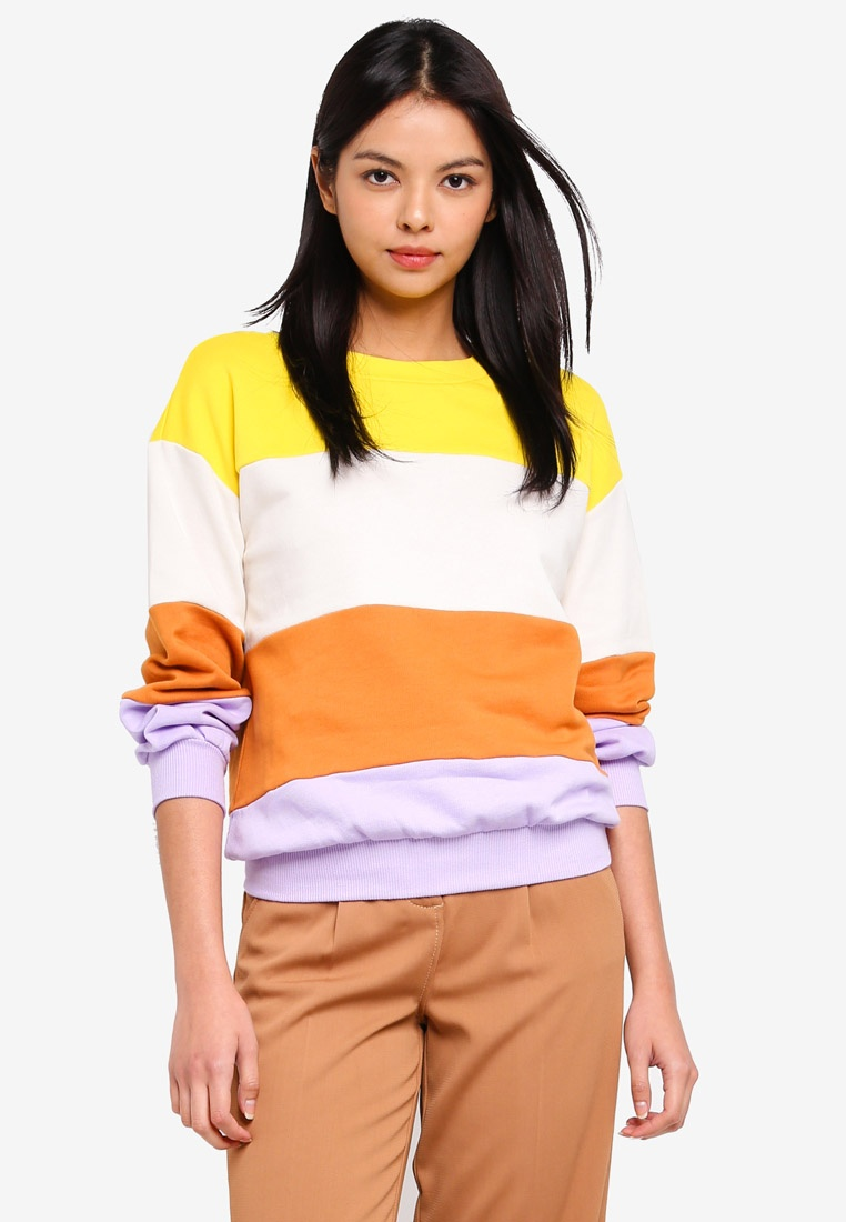 Yellow Long ESPRIT Long Sleeve Sweatshirt ESPRIT xqwvF1f