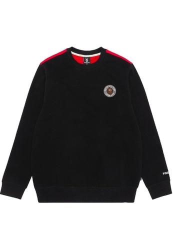 Fingercroxx black Contrast logo print sweatshirt DB557AA8D77D61GS_1