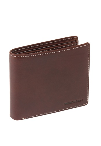 ENZODESIGN brown Italian Leather Coin Box Wallet EN357AC0HA8ZSG_1