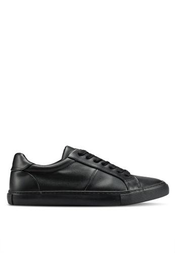 Topman 黑色 拼接運動鞋 91728SH2860120GS_1