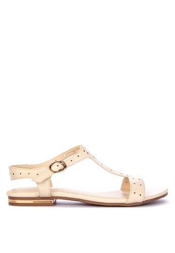 986234fbaea Shop Gibi Flat T-Strap Sandals Online on ZALORA Philippines
