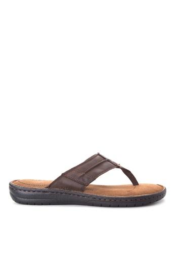 Alberto brown Slide Flat Sandals AL375SH95QEMPH_1