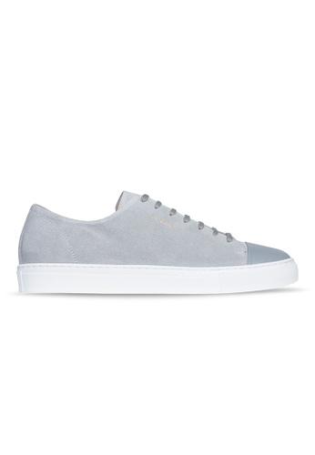 Axel Arigato Cap-toe 淺灰色麂皮搭配皮製鞋頭 A1D26SH9354F8CGS_1
