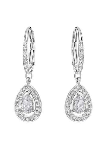 SWAROVSKI silver Attract Pierced Pear Earrings 30C0DACDE2451DGS_1