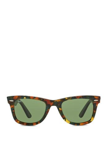Wayfarer Fleck 方框太陽眼鏡, 飾品配件, 飾品zalora 衣服尺寸配件