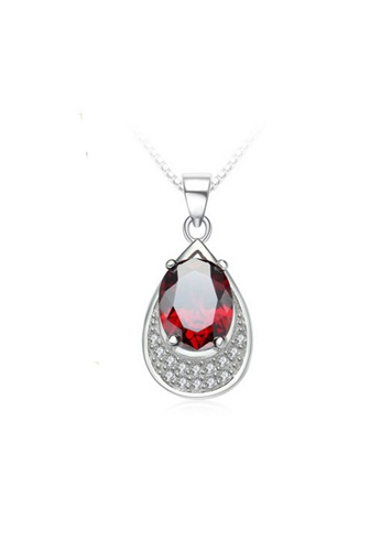 LYCKA red and silver LPP88185 S925 Silver Necklace 546F2ACC8F7DD5GS_1