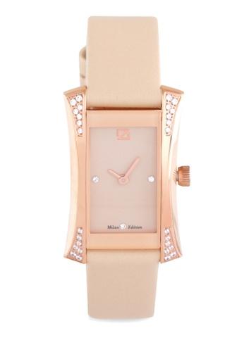 ZECA beige Zeca Watches Ladies Fashion Leather Analog - 149LD Beige Rosegold ZE260AC0H99XSG_1