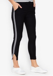 Balaynor black Skinny Track Pants with Slit CD966AA8417B6AGS_1
