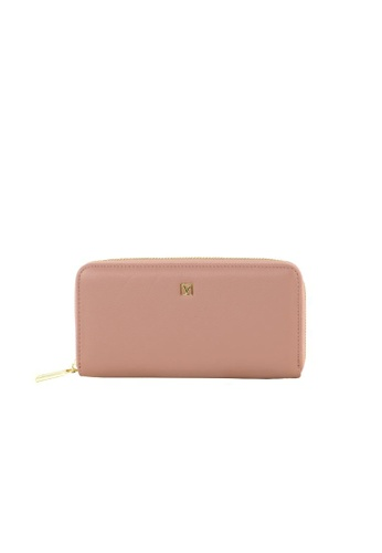 Valentino Rudy pink Valentino Rudy Italy Ladies Zip Around Long Wallet with Wrist strap 040734-502 DC5A7AC9C6BD58GS_1