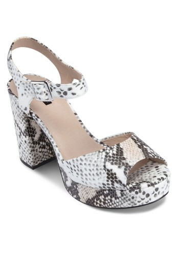Limbzalora 順豐o 魚口繞踝厚底涼鞋, 女鞋, 鞋