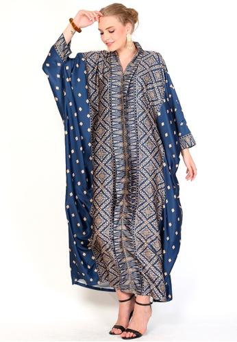 Kanzi by liza yahya blue Kanzi Exclusive Long Sleeve Songket Kaftan 4783EAABDF5721GS_1