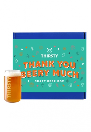 """Thirsty Thirsty """"Thank You Beery Much"""" Craft Beer Gift Box [7 Beers + 1 FREE Glass] 9C78CES93A759DGS_1"""
