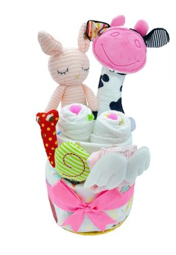 Akarana Baby white and multi Baby Hamper Gift Set - Keke Newborn Gift (Girl) C5722KC59743CBGS_1