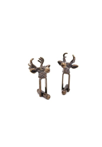 Red Stag And Hind brown Red Stag And Hind Bronze Antique Stag Cufflinks 69BCAAC7F6E54BGS_1