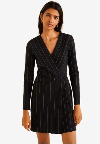 bf827bd0eb8 Buy Mango Pinstripe Print Dress Online on ZALORA Singapore