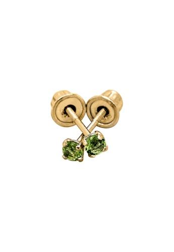 Piccolo Mio yellow Baby & Kids 14K Gold August Birthstone Earrings - Peridot 9702FKCAE876C0GS_1