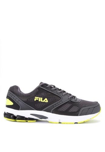 Fila black and multi Upstart Running Shoes FFEE0SH3D9CE51GS_1