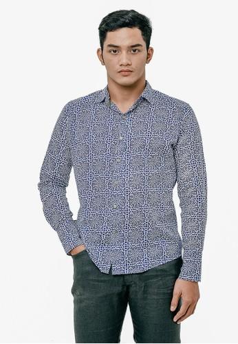Gingersnap Bali multi Printed Light Cotton Longsleeve Warna Shirt 0F627AA9299E7CGS_1