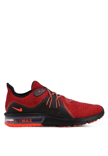 Nike red Nike Air Max Sequent 3 Running Shoes 1DC4ASHA74162CGS_1