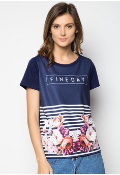 Short Sleeves Boxy Tee with Photographic Print
