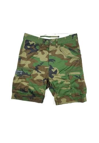 L.I.M.I.T.E green and multi Emb. Chino Shorts 6C42BAA8313667GS_1