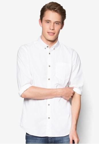 簡約長esprit 見工袖襯衫, 服飾, 襯衫
